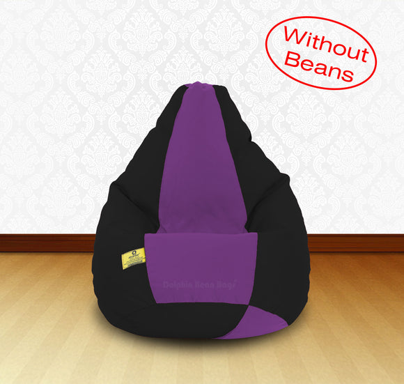 DOLPHIN XL Black/Purple-FABRIC-COVERS(without Beans)