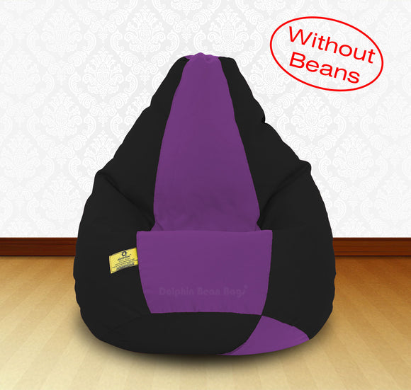DOLPHIN XXL Black/Purple-FABRIC-COVERS(without Beans)
