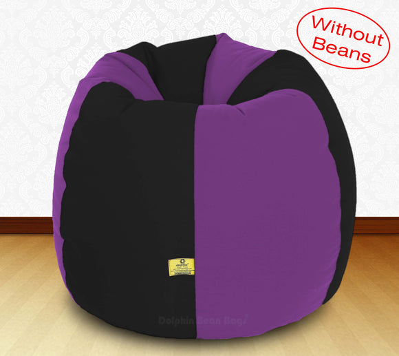 DOLPHIN XXXL Black/Purple-FABRIC-COVERS(without Beans)