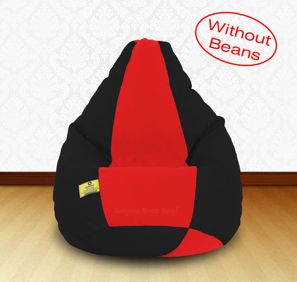 DOLPHIN XXL Black/Red-FABRIC-COVERS(without Beans)