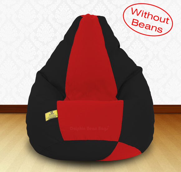DOLPHIN XXXL Black/Red-FABRIC-COVERS(without Beans)