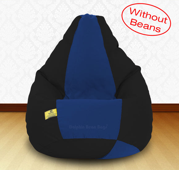 DOLPHIN XXXL Black/R.Blue-FABRIC-COVERS(without Beans)