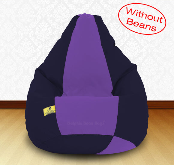 DOLPHIN XXXL N.Blue/Purple-FABRIC-COVERS(without Beans)