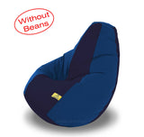 DOLPHIN XXL N.Blue/R.Blue-FABRIC-COVERS(without Beans)