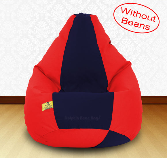 DOLPHIN XXXL Red/N.Blue-FABRIC-COVERS(without Beans)