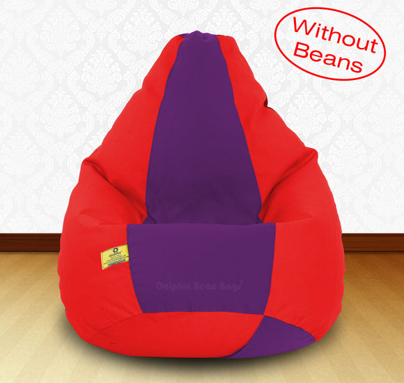 DOLPHIN XXXL Red/Purple-FABRIC-COVERS(without Beans)