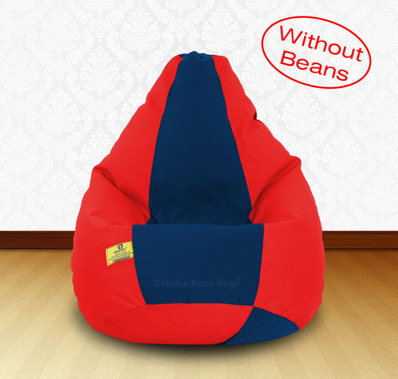 DOLPHIN XXL Red/R.Blue-FABRIC-COVERS(without Beans)
