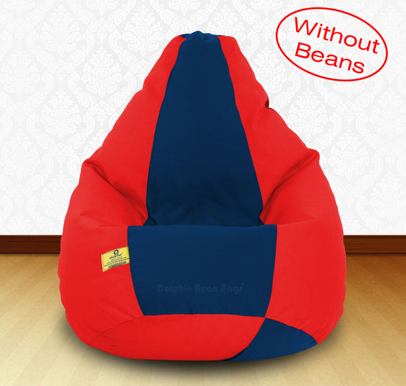 DOLPHIN XXXL Red/R.Blue-FABRIC-COVERS(without Beans)