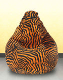 DOLPHIN XL GOLDEN ZEBRA-FABRIC-FILLED & WASHABLE (with Beans)