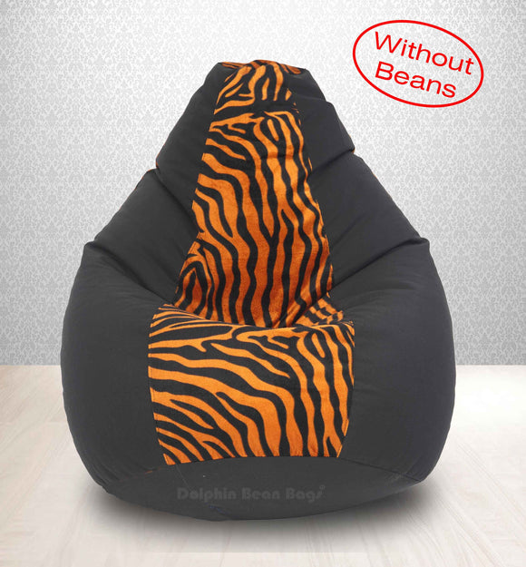 DOLPHIN XXL BLACK/GOLDEN ZEBRA-FABRIC-COVERS(without Beans)
