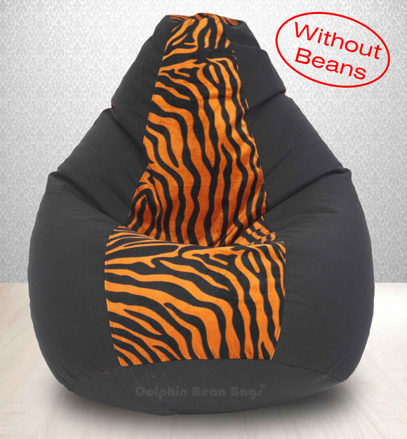 DOLPHIN XXXL BLACK/GOLDEN ZEBRA-FABRIC-COVERS(without Beans)