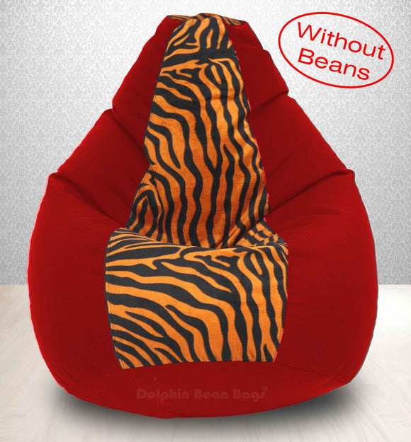 DOLPHIN XXXL Red/Golden Zebra-FABRIC-COVERS(without Beans)