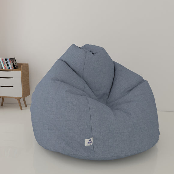 DOLPHIN XXL DENIM BEAN BAG-LIGHT BLUE - WASHABLE (With Beans)
