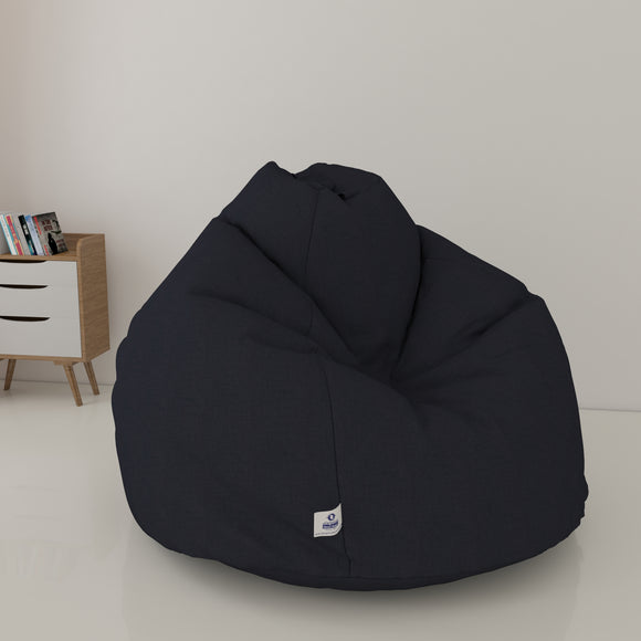 DOLPHIN XXL DENIM BEAN BAG-DENIM DARK BLUE - WASHABLE (With Beans)