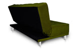 Dolphin Liberty 3 seater Solid Wood Sofa Bed-B-Green