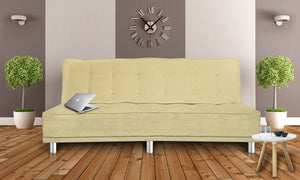 Dolphin Liberty 3 seater Solid Wood Sofa Bed-Beige