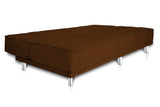 Dolphin Liberty 3 seater Solid Wood Sofa Bed-Brown
