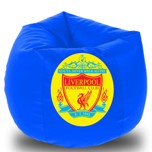 Dolphin Printed Bean Bag XXXL- Liverpool - Without Beans (Cover)