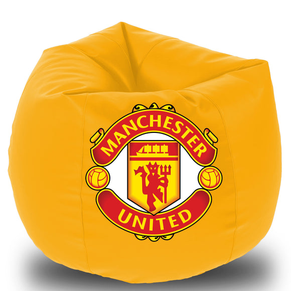 Dolphin Printed Bean Bag XXL- Manchester united- Filled (With Beans)