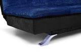 Dolphin Neptune 3 Seater Solid Wood Sofa Bed - Black & Navy