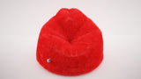 DOLPHIN XXXL FUR BEAN BAG-RED-ARTIFICIAL(With Beans)