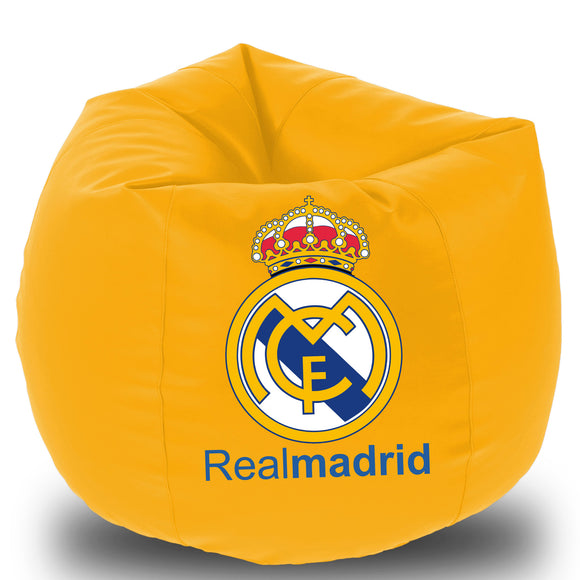 Dolphin Printed Bean Bag XXL- Realmadrid- Filled (With Beans)