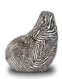 DOLPHIN XXL Blk-White ZEBRA-FABRIC-FILLED(with Beans)