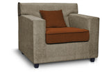 Dolphin Solitaire Fabric 3+1+1 Seater Sofa set-Grey & Brown