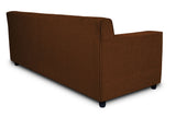 Dolphin Solitaire Fabric 2 Seater Sofa-Brown