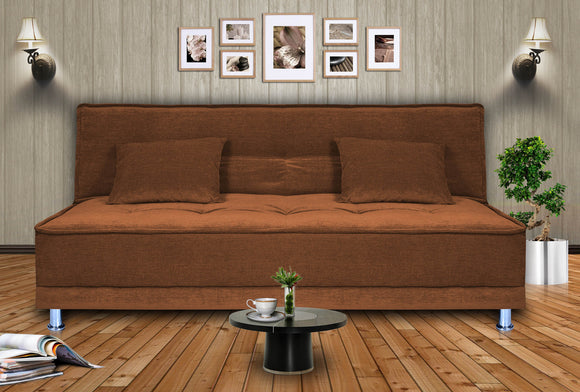 Dolphin Stardust 3 seater Solid Wood Sofa Bed-Brown