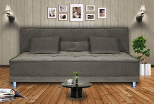 Dolphin Stardust 3 seater Solid Wood Sofa Bed-Grey