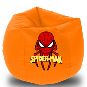 Dolphin Printed Bean Bag XXXL- Spiderman- Filled (With Beans)