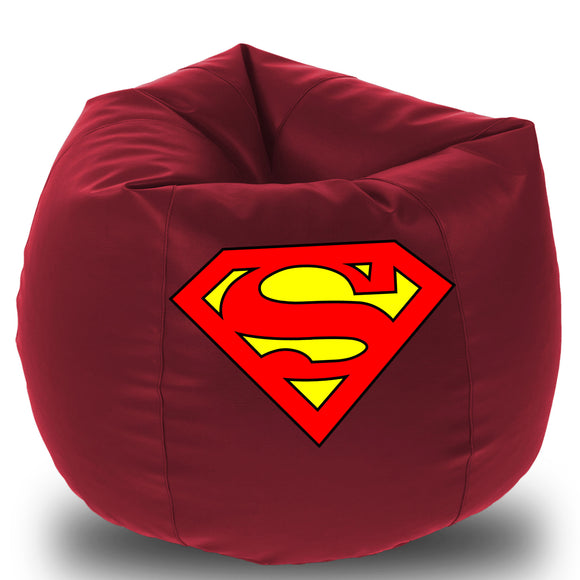 Dolphin Printed Bean Bag XXL- Superman- Filled (With Beans)