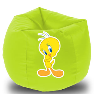 Dolphin Printed Bean Bag XXL- Tweety- Filled (With Beans)