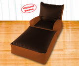 Dolphin Recliner Armrest Bean Bag Brown/Tan-Covers (Without Beans)