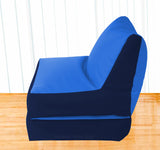 Dolphin Recliner Bean Bag N.Blue/R.Blue-Filled (With Beans)