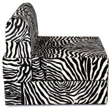 Dolphin Zeal 1 Seater Sofa Bed- Zebra - 2.5ft x 6ft with Free Designer filled cushions