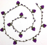 10.10.21 Purple Rose with Amethyst Stone