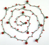 Red Strawberry crocheted lariat