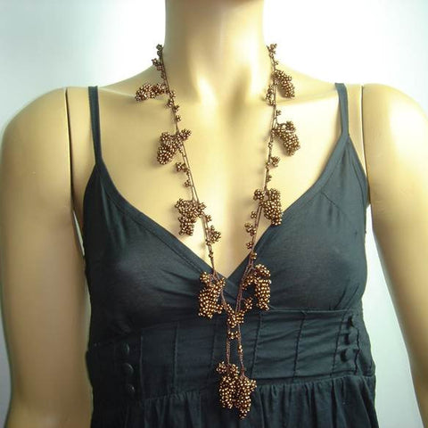Copper Grape Tied necklace
