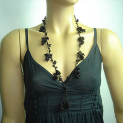 Beaded Berry&Grape Tied Necklaces