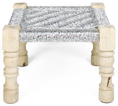 CHARPOY - BABY STOOL - SILVER