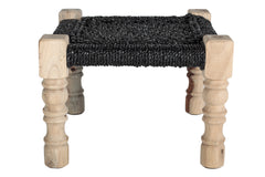 CHARPOY - BABY STOOL - BLACK