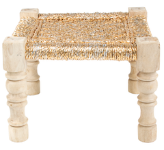 CHARPOY - BABY STOOL - GOLD