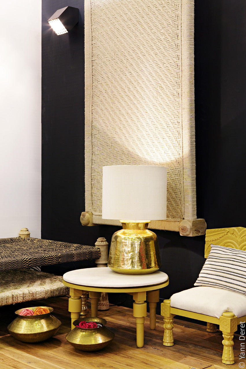 lampe matka abat jour noir oumaproductions. Black Bedroom Furniture Sets. Home Design Ideas