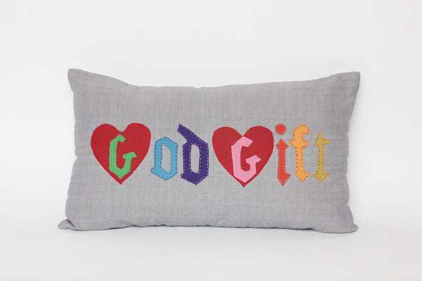 COUSSIN 'GOD GIFT' GRIS