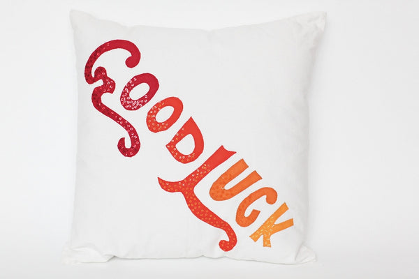COUSSIN 'GOOD LUCK' BLANC