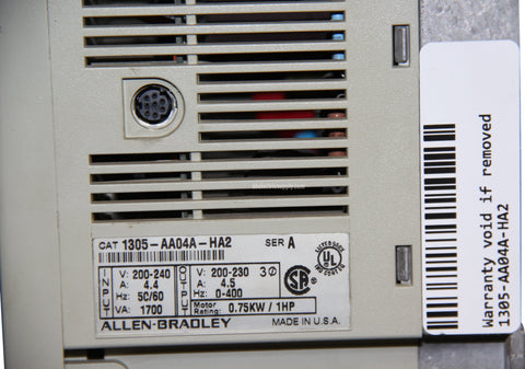 Allen Bradley 1305-AA04A-HA2 Ser A Adjustable Frequency AC Drive **READ**