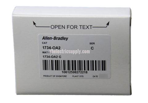 New surplus Sealed Allen Bradley Digital Output Module 1734-OA2 Ser C FW 3.002