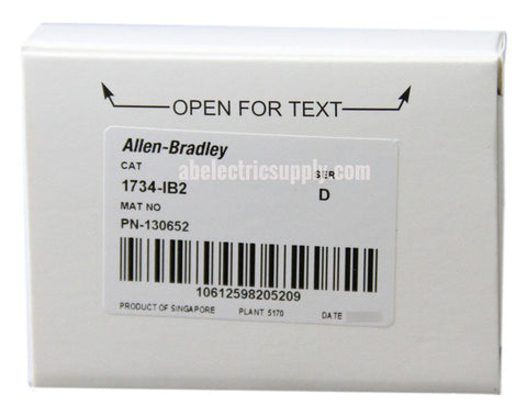 New surplus Sealed Allen Bradley Digital Input Module 1734-IB2 Ser D FW 3.022